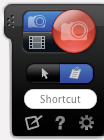 These buttons tuck themselves out of the way - but are always accessible.  Way to go, SnagIt developers!