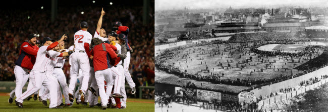 Red Sox celebrations in 1903 and 2013