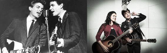 Nora Jones and Billy Joe Armstrong recreate Everly Brothers' sound impeccably.