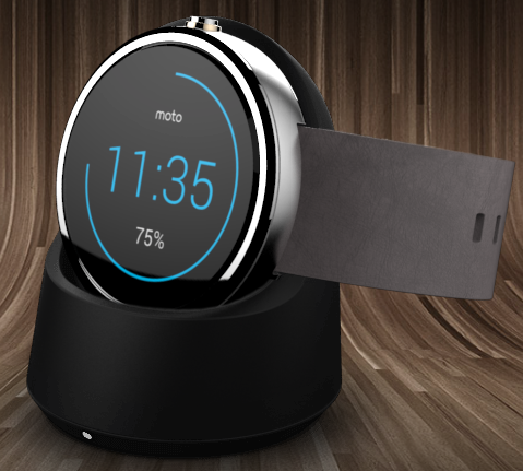 The Moto 360 as a low light alarm clock.  Great for your night stand